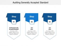 Auditing Generally Accepted Standard Ppt Powerpoint Presentation Show Example Cpb