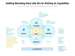 Auditing Marketing Stack With 6Cs For Refining Its Capabilities