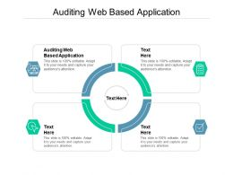 Auditing Web Based Application Ppt Powerpoint Presentation Ideas Format Cpb