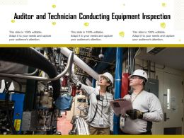 Auditor And Technician Conducting Equipment Inspection