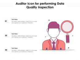 Auditor Icon For Performing Data Quality Inspection
