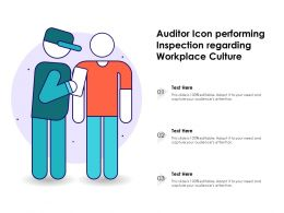 Auditor Icon Performing Inspection Regarding Workplace Culture