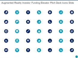 Augmented Reality Investor Funding Elevator Pitch Deck Icons Slide