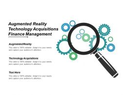 Augmented Reality Technology Acquisitions Finance Management Finance Technology Cpb