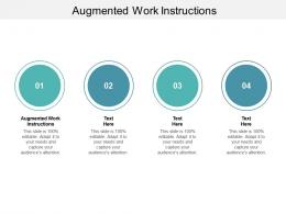 Augmented Work Instructions Ppt Powerpoint Presentation Infographic Template Picture Cpb