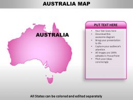 Australia Country Powerpoint Maps