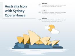 Australia Icon With Sydney Opera House