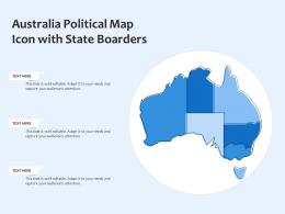Australia Political Map Icon With State Boarders