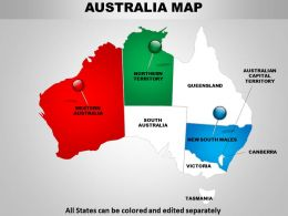 Australian Map Powerpoint Design 1114