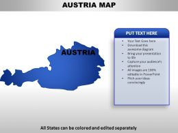 Austria Country Powerpoint Maps