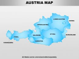Austria Powerpoint Maps
