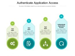 Authenticate Application Access Ppt Inspiration Backgrounds Cpb