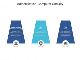 Authentication Computer Security Ppt Powerpoint Presentation Model Deck Cpb