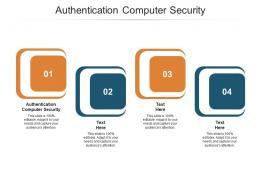 Authentication Computer Security Ppt Powerpoint Presentation Slides Graphics Pictures Cpb