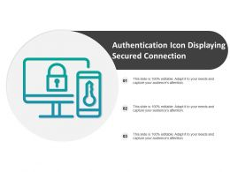 Authentication Icon Displaying Secured Connection