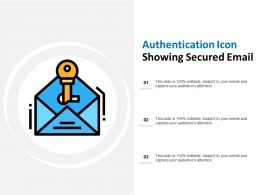 Authentication Icon Showing Secured Email