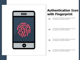 Authentication Icon With Fingerprint