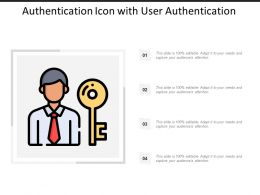 Authentication Icon With User Authentication