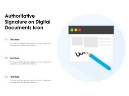Authoritative Signature On Digital Documents Icon