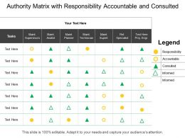 Authority Matrix With Responsibility Accountable And Consulted