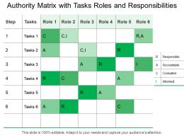 Authority Matrix With Tasks Roles And Responsibilities