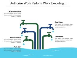 Authorize Work Perform Work Executing Process Project Integration