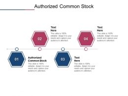 Authorized Common Stock Ppt Powerpoint Presentation Slides Grid Cpb