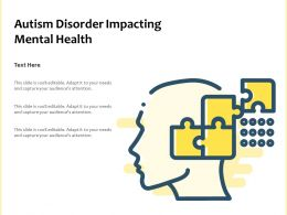 Autism Disorder Impacting Mental Health