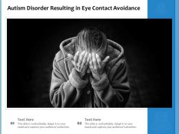 Autism Disorder Resulting In Eye Contact Avoidance