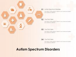 Autism Spectrum Disorders Ppt Powerpoint Presentation Icon Design Templates