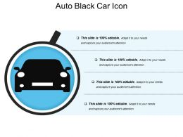 Auto Black Car Icon