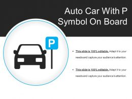 Auto Car With P Symbol On Board