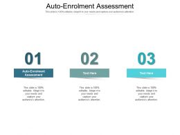 Auto Enrolment Assessment Ppt Powerpoint Presentation Pictures Summary Cpb