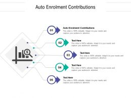Auto Enrolment Contributions Ppt Powerpoint Presentation Summary Graphics Template Cpb