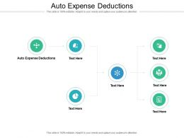 Auto Expense Deductions Ppt Powerpoint Presentation Layouts Icons Cpb