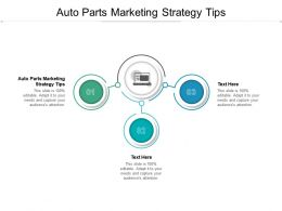 Auto Parts Marketing Strategy Tips Ppt Powerpoint Presentation Gallery Objects Cpb