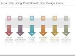 Auto Rate Filling Powerpoint Slide Design Ideas
