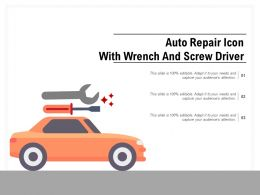 Auto Repair Icon With Wrench And Screw Driver