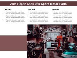 Auto Repair Shop With Spare Motor Parts
