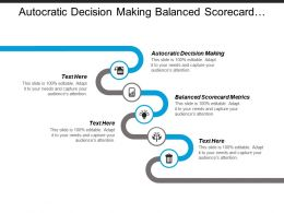 Autocratic Decision Making Balanced Scorecard Metrics Healthcare Services Cpb