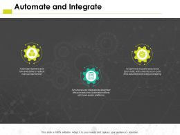 Automate And Integrate Platforms Ppt Powerpoint Presentation Pictures Show