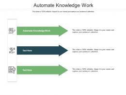 Automate Knowledge Work Ppt Powerpoint Presentation Infographics Display Cpb