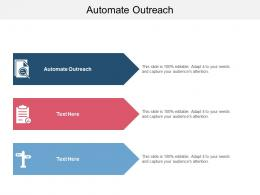 Automate Outreach Ppt Powerpoint Presentation Ideas Clipart Images Cpb