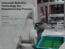 Automate Robotics Technology For Manufacturing Process