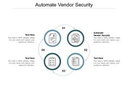 Automate Vendor Security Ppt Powerpoint Presentation Inspiration Outfit Cpb