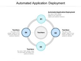 Automated Application Deployment Ppt Powerpoint Presentation Outline Slide Cpb