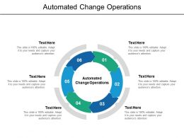 Automated Change Operations Ppt Powerpoint Presentation Slides Show Cpb