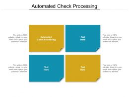Automated Check Processing Ppt Powerpoint Presentation Infographic Template Pictures Cpb