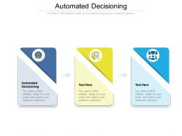 Automated Decisioning Ppt Powerpoint Presentation Ideas Show Cpb