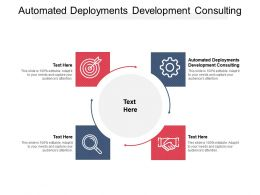 Automated Deployments Development Consulting Ppt Powerpoint Presentation Summary Slideshow Cpb